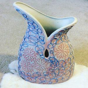 Huge Hippie Daisy Flower Swirl Artsy Vase